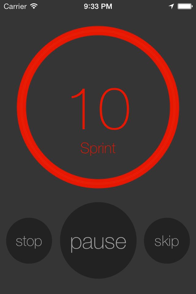 interval training app 10-20-30 training concept - jog run